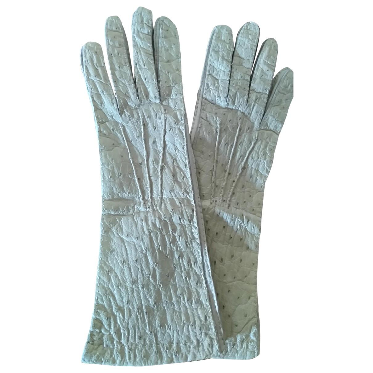 Prada \N Handschuhe in  Weiss Vogelstrauss