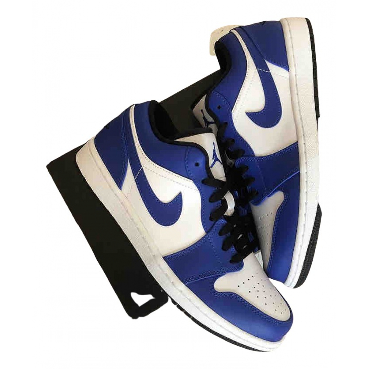 Jordan Air Jordan 1  Sneakers in  Blau Leder