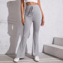 Heather Gray Flare Leg Pants