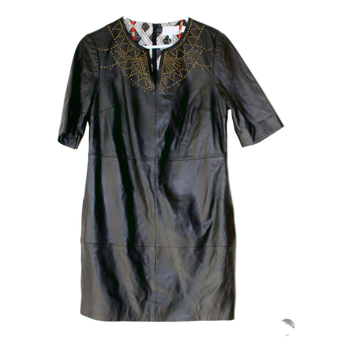 Camilla \N Kleid in  Schwarz Leder