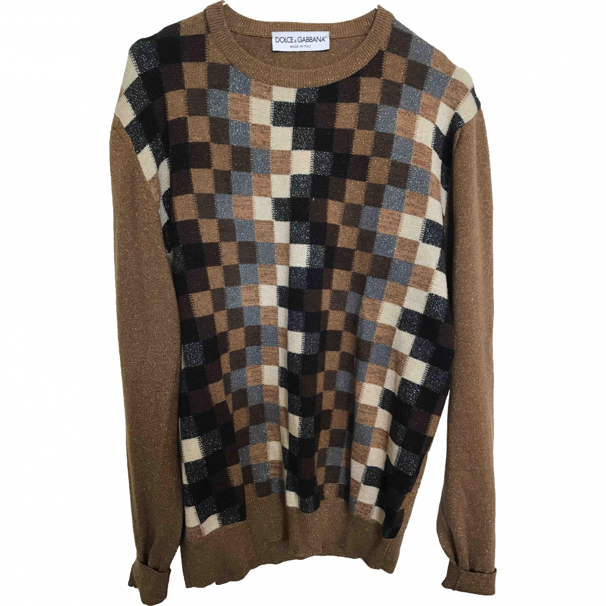 Dolce & Gabbana \N Pullover.Westen.Sweatshirts  in  Kamel Wolle