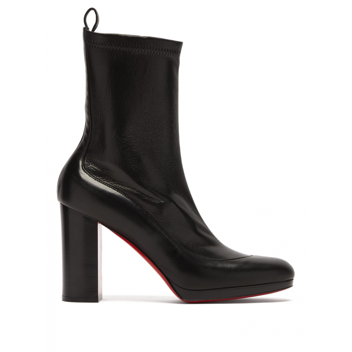 Christian Louboutin \N Black Leather Ankle boots for Women 36 EU