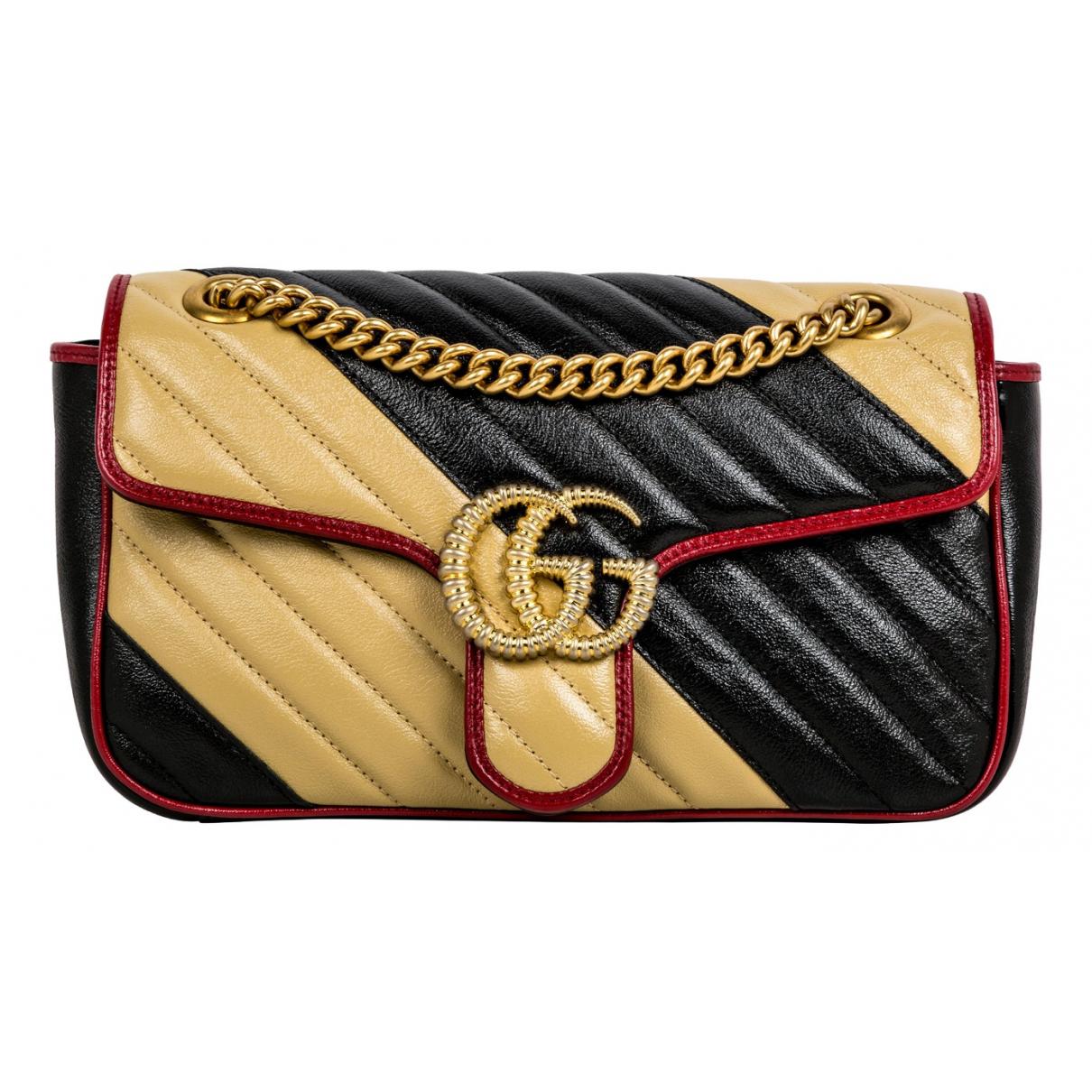 Gucci - Sac a main Marmont pour femme en cuir - multicolore