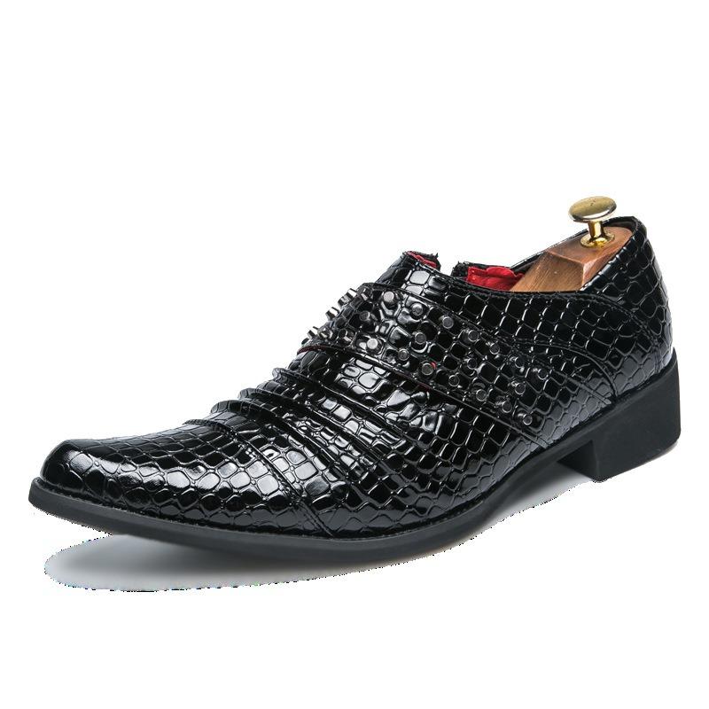Ericdress PU Rivet Pointed Toe Men's Dress Shoes