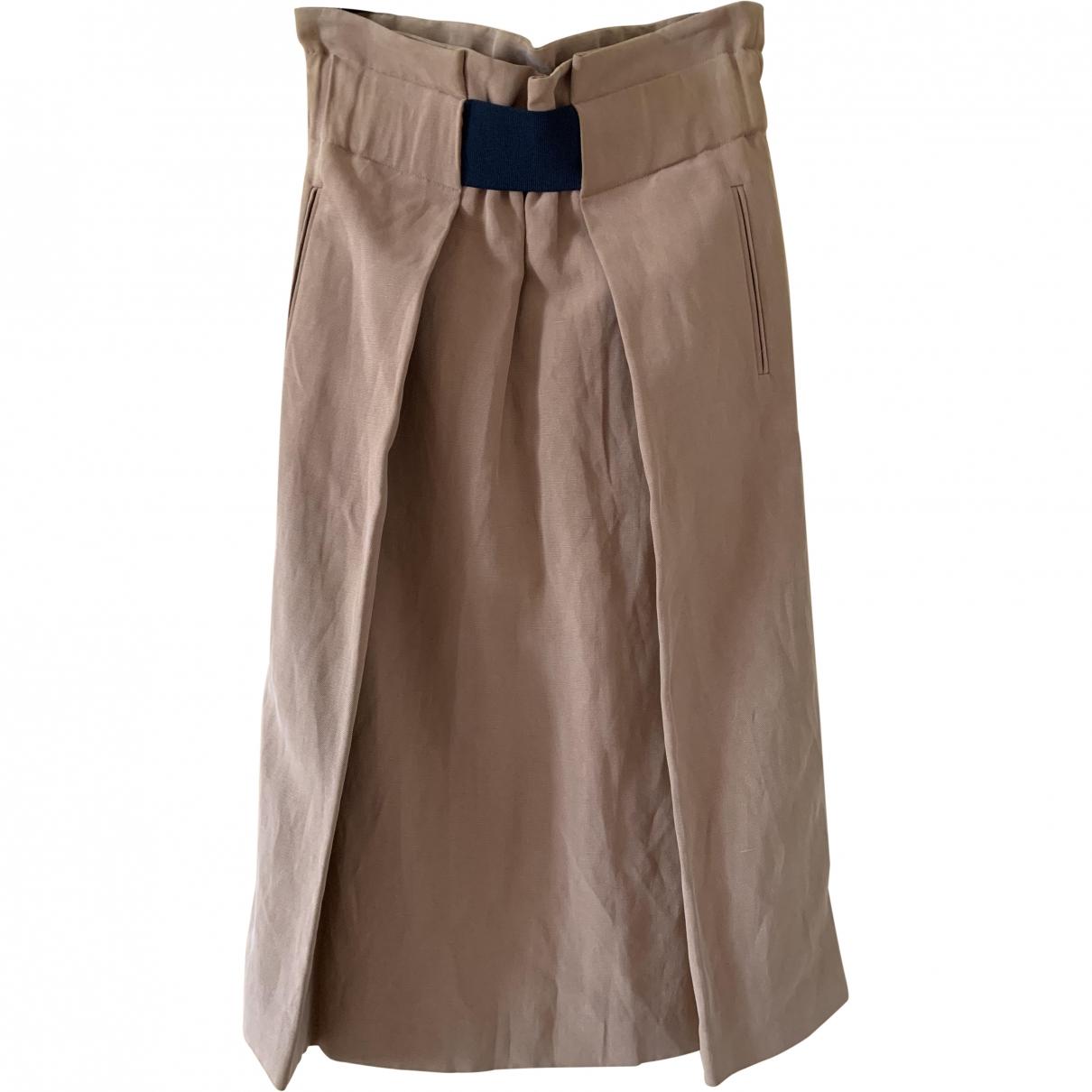 Trussardi \N Brown Silk skirt for Women 40 IT