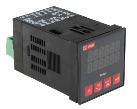 RS PRO SPDT Timer Relay -, 1 Contacts, One Shot, Panel Mount