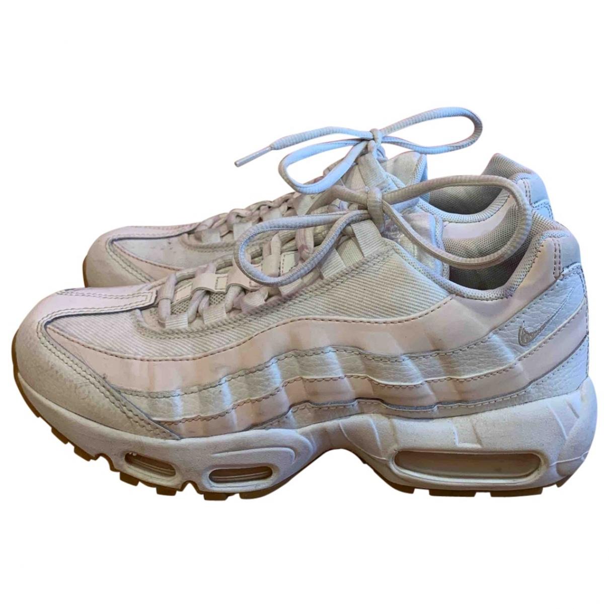 Nike Air Max 95 White Cloth Trainers for Women 38.5 EU