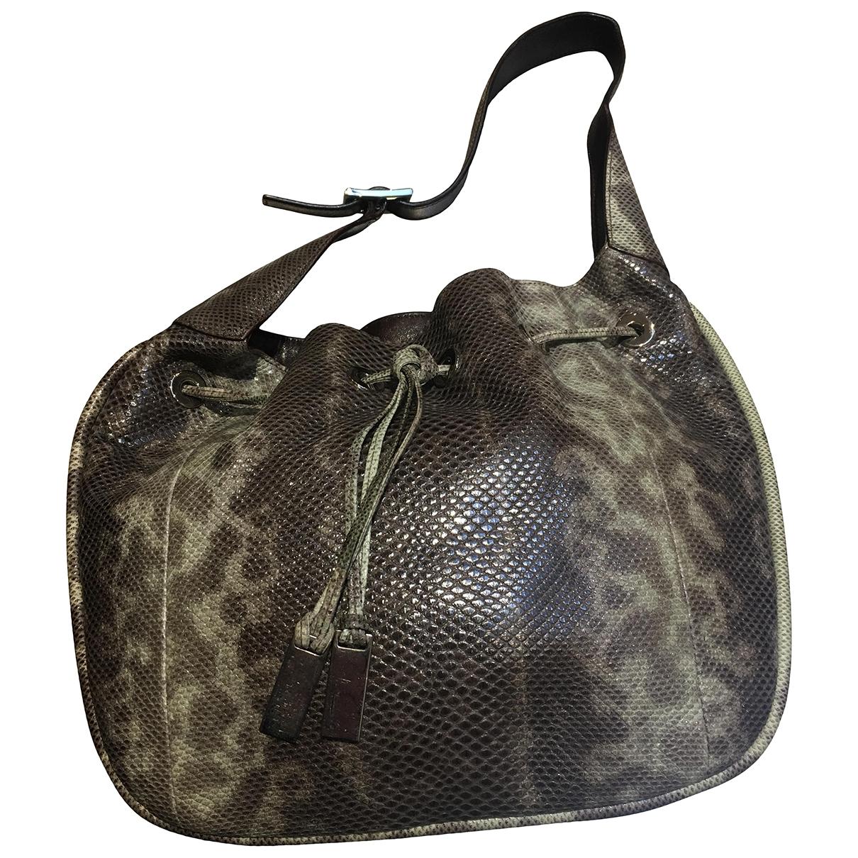 Gucci \N Handtasche in  Grau Echse