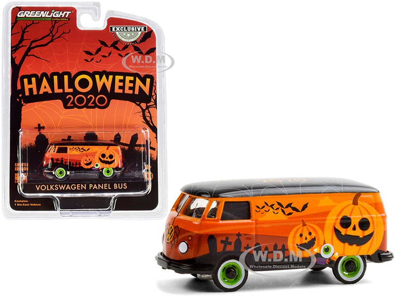 Volkswagen Panel Van Orange with Black Top Halloween - 2020 Hobby Exclusive 1/64 Diecast Model by Greenlight