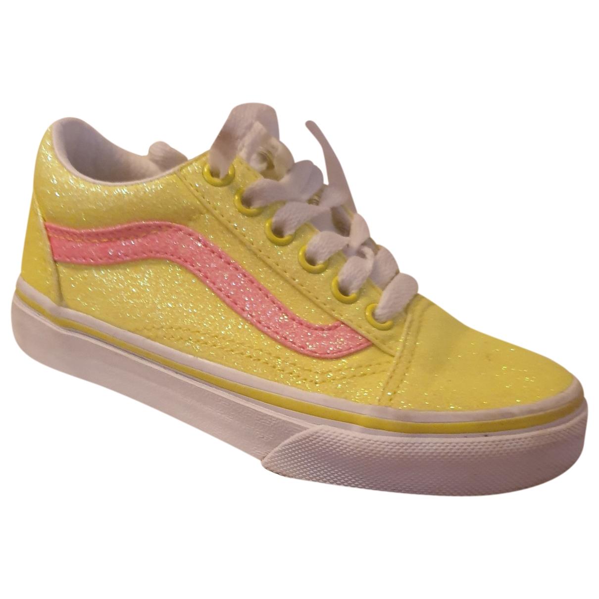Vans - Baskets   pour enfant en a paillettes - jaune