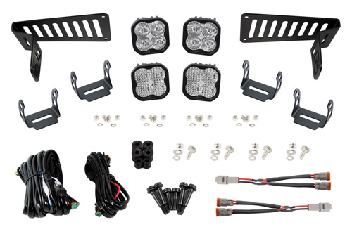 Diode Dynamics DD6554 SS3 Cowl LED Bracket Kit for 18-20 Wrangler JL/Gladiator White Pro