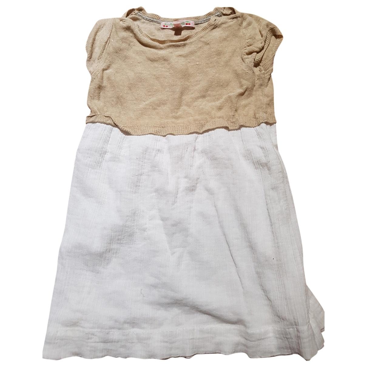 Bonpoint - Robe    pour enfant en lin - beige