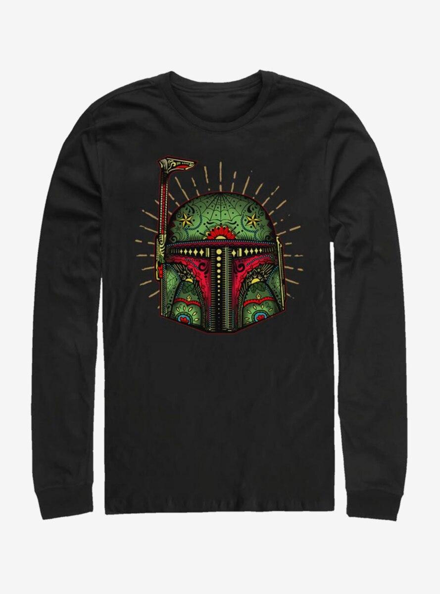 Star Wars Boba Sugar Skull Long-Sleeve T-Shirt