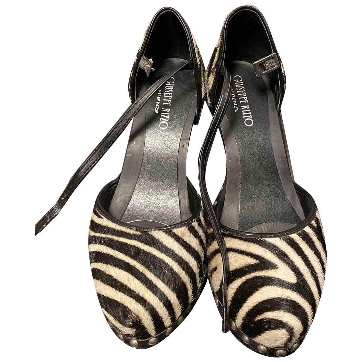 Non Signé / Unsigned \N Black Pony-style calfskin Sandals for Women 37 EU