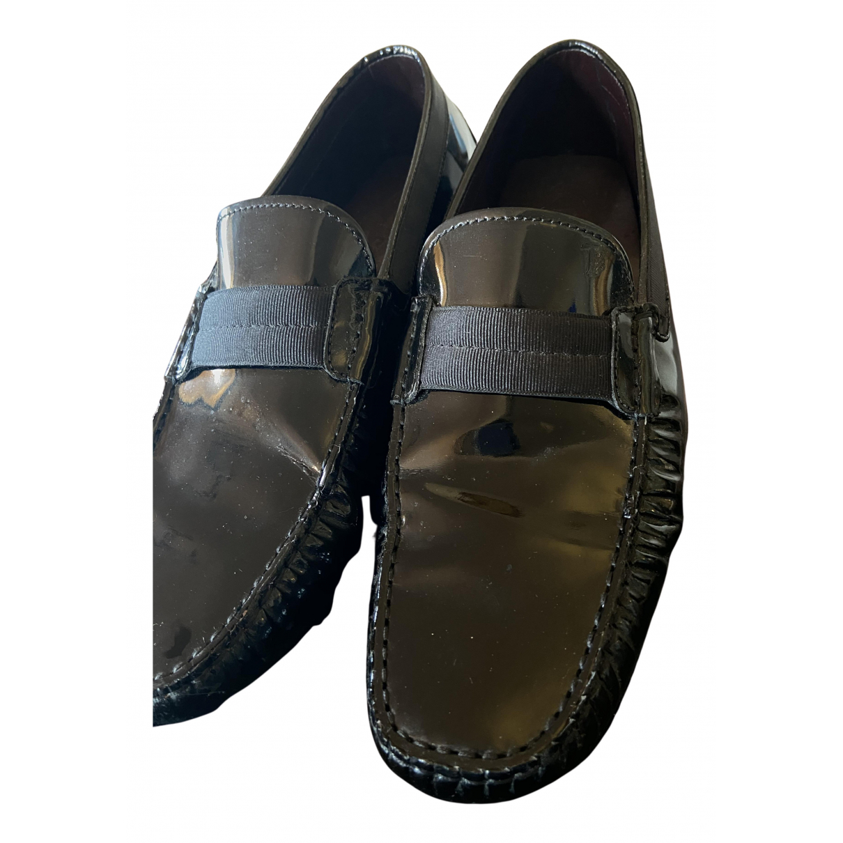 Tod's N Black Patent leather Flats for Men 10 UK