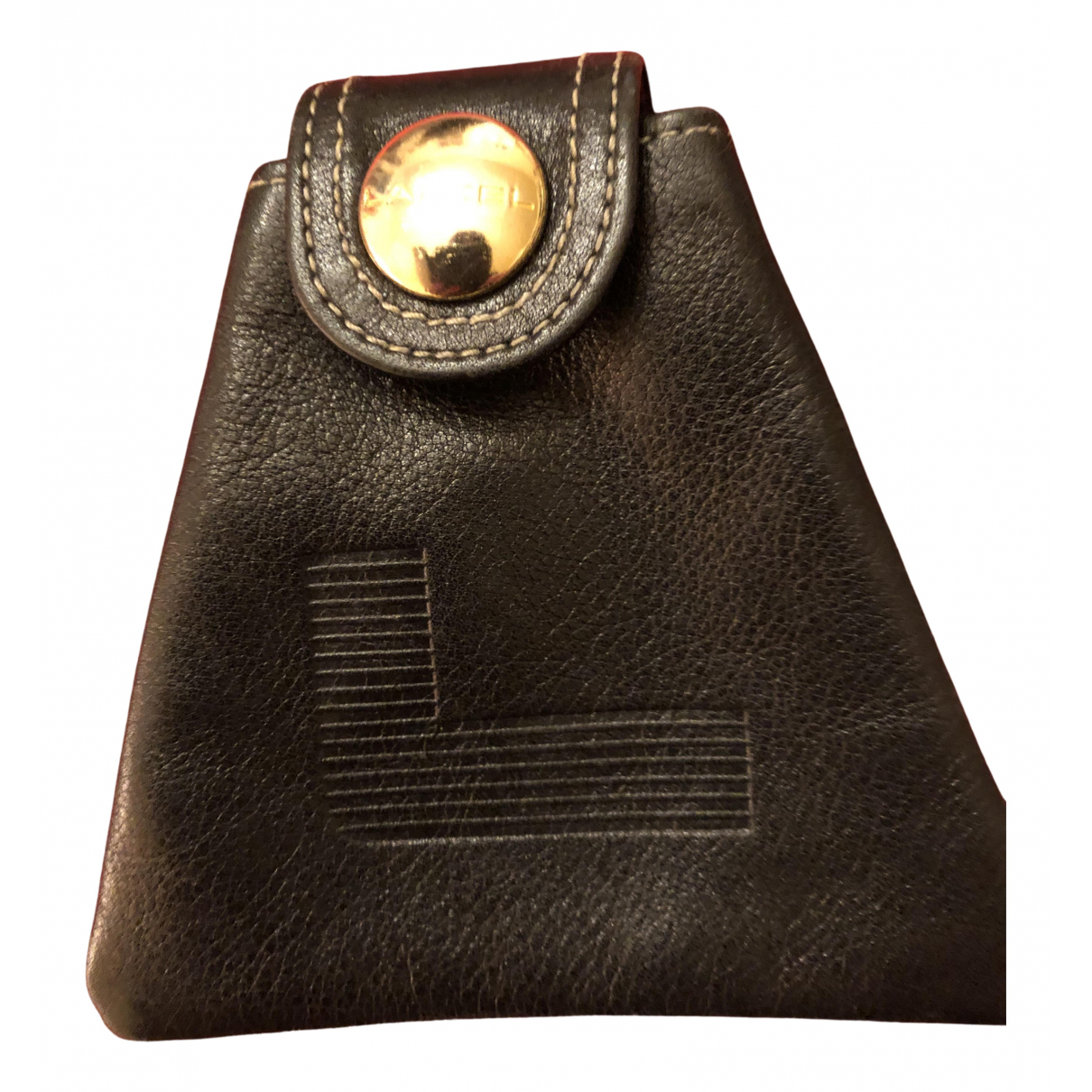 Lancel \N Kleinlederwaren in  Schwarz Leder