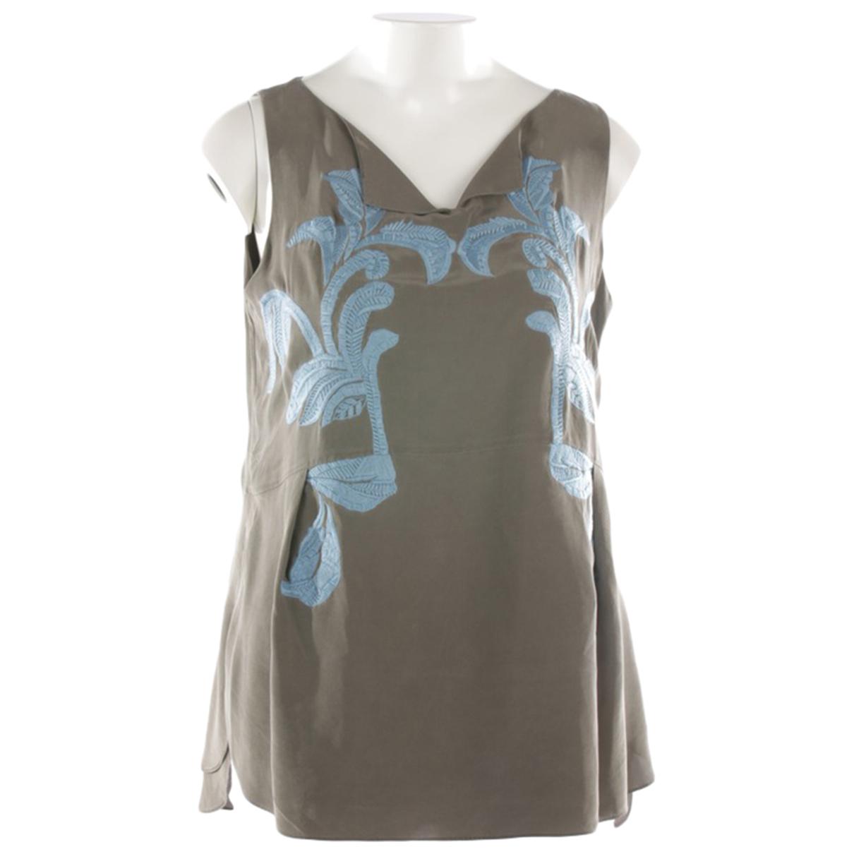 Schumacher N Green Silk  top for Women 40 IT