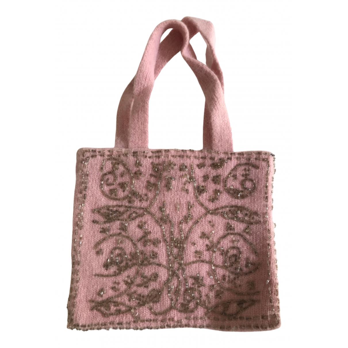 Blumarine \N Handtasche in  Rosa Wolle