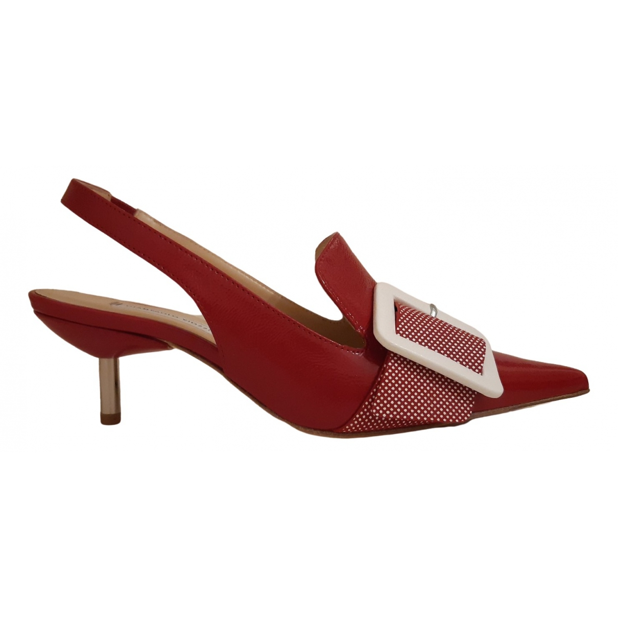 Giampaolo Viozzi \N Pumps in  Rot Leder