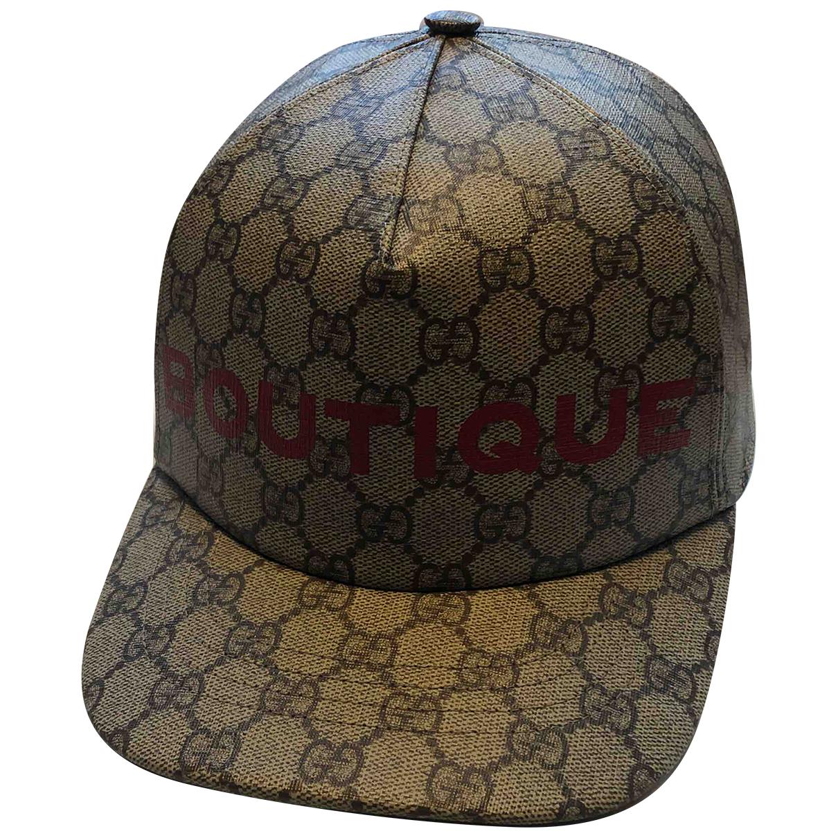 Gucci - Chapeau & Bonnets   pour homme en toile - beige