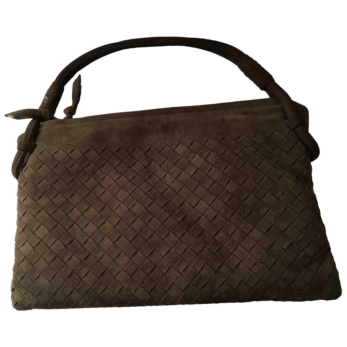 Bottega Veneta \N Handtasche in  Braun Veloursleder