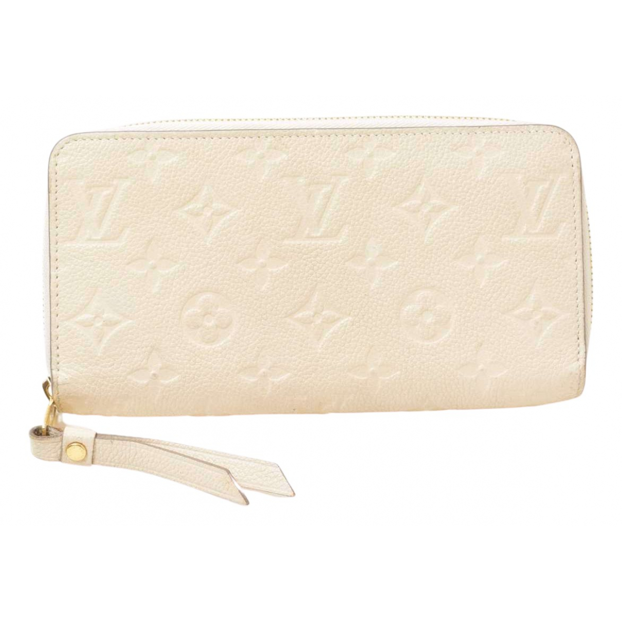 Louis Vuitton - Portefeuille Zippy pour femme en cuir - blanc