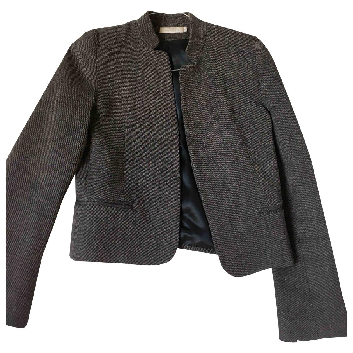 Sandro \N Grey Wool jacket for Women 36 FR