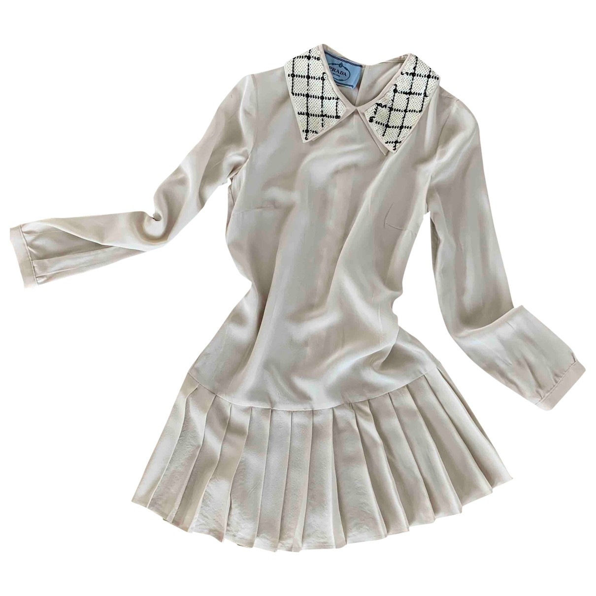 Prada \N Ecru Silk dress for Women 40 IT