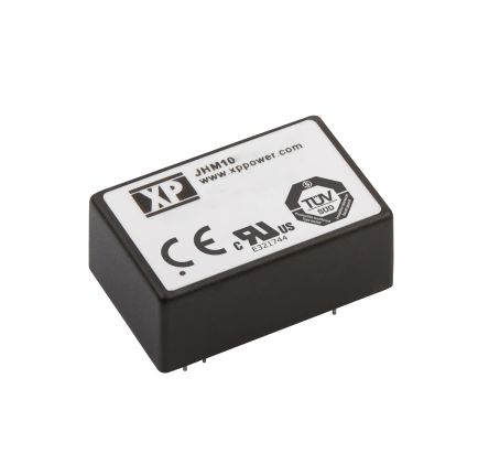 XP Power JHM 10W Isolated DC-DC Converter Through Hole, Voltage in 18 → 36 V dc, Voltage out ±12V dc Medical