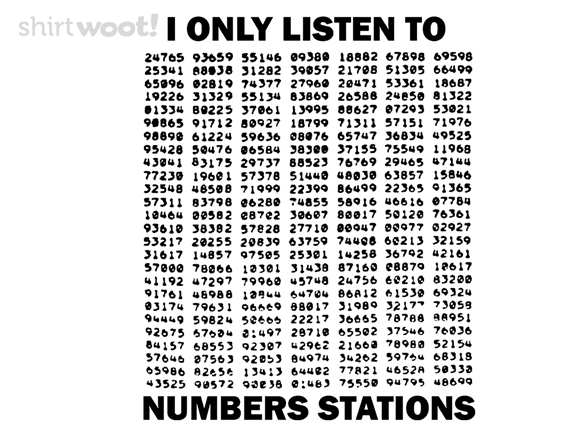 Numbers Stations T Shirt