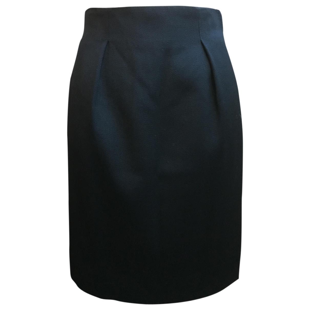 Celine - Jupe   pour femme en laine - noir