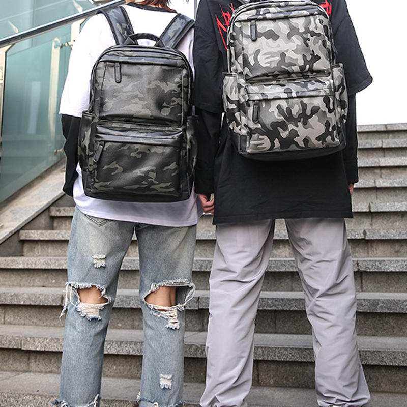 Men Large Capacity Fashion Casual Camouflage Backpack Travel Bag