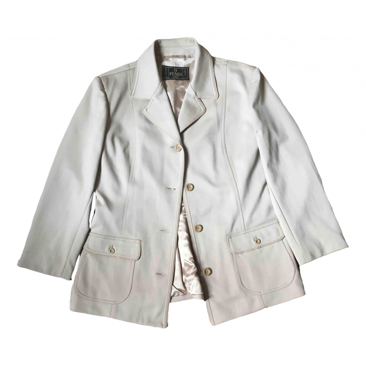 Fendi \N Ecru jacket for Women 48 IT