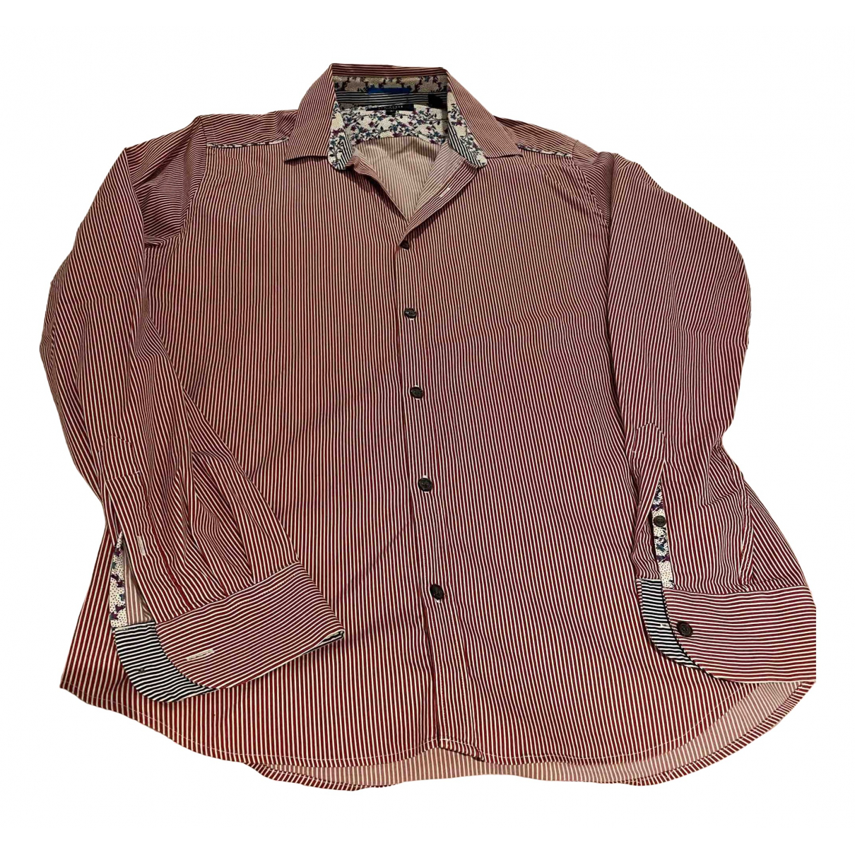 Ted Baker \N Red Cotton Shirts for Men 15.5 UK - US (tour de cou / collar)