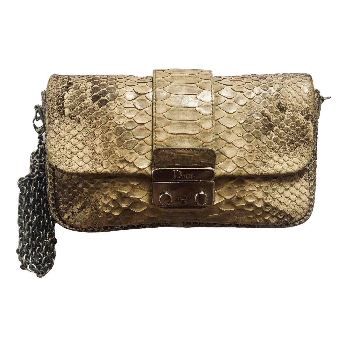 Dior Miss Dior Handtasche in  Beige Python