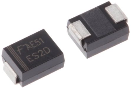 ON Semiconductor ON Semi 200V 2A, Silicon Junction Diode, 2-Pin DO-214AA ES2D (10)