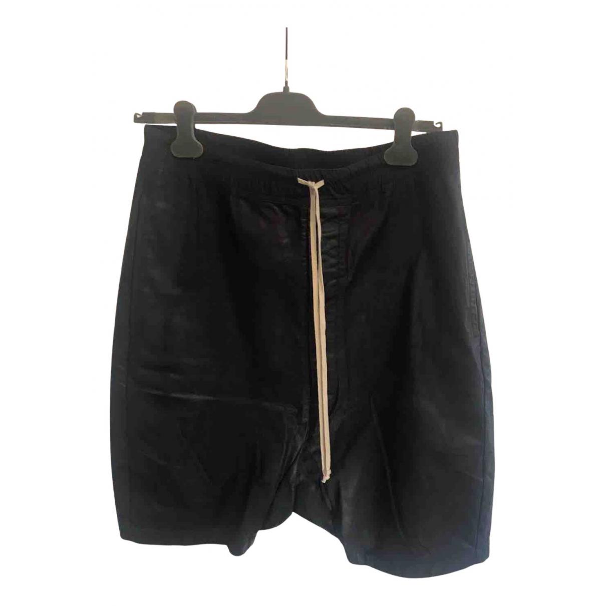 Rick Owens \N Shorts in  Schwarz Baumwolle