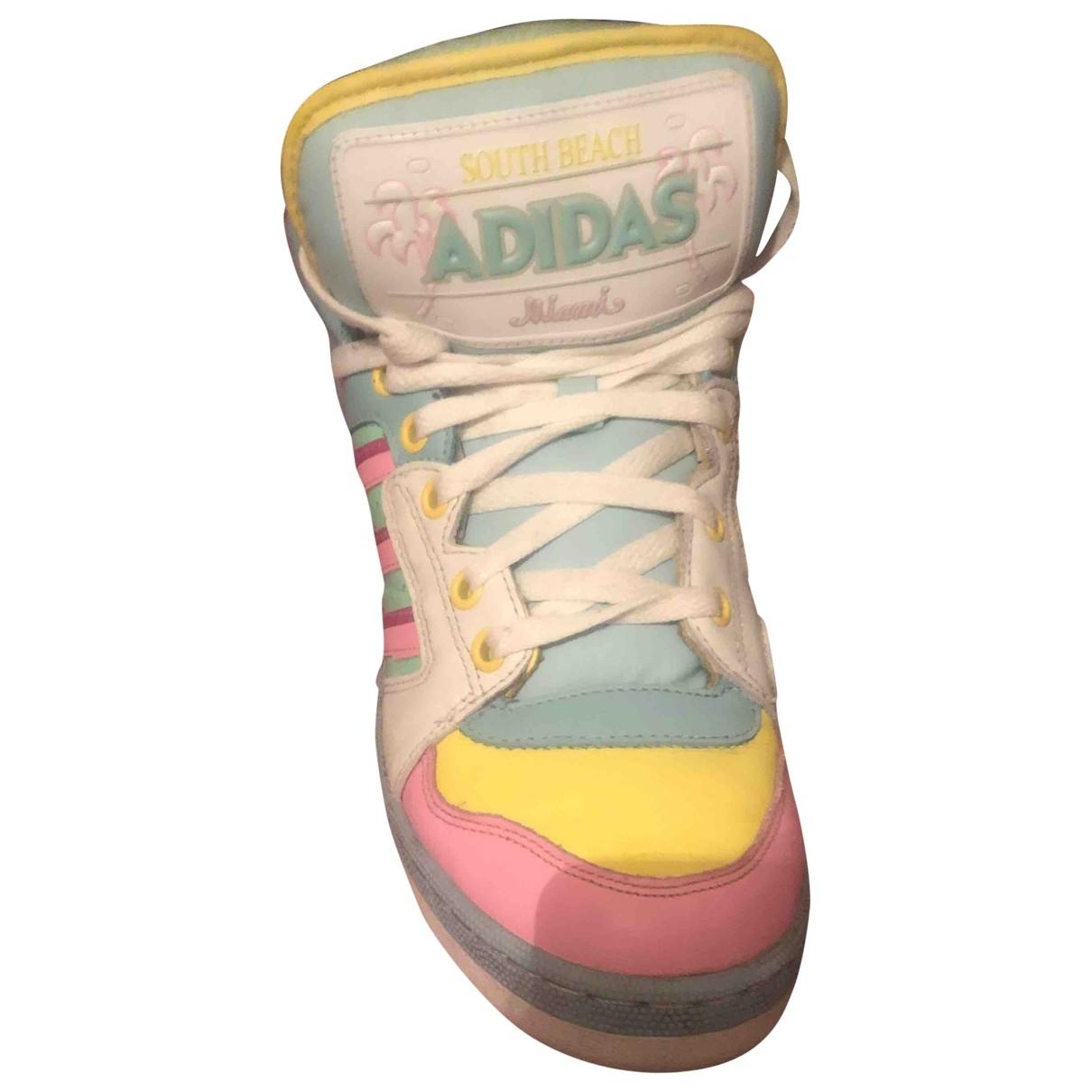 Jeremy Scott Pour Adidas - Baskets   pour femme en caoutchouc - multicolore