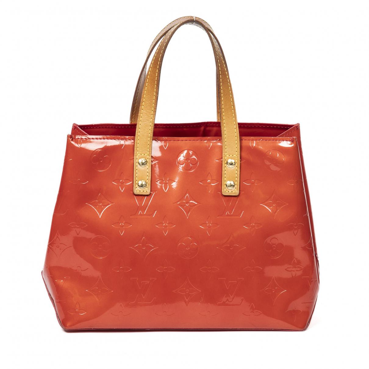 Louis Vuitton - Sac a main Reade pour femme en cuir verni - rouge