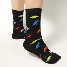 Socken mit Dinosaurier Muster