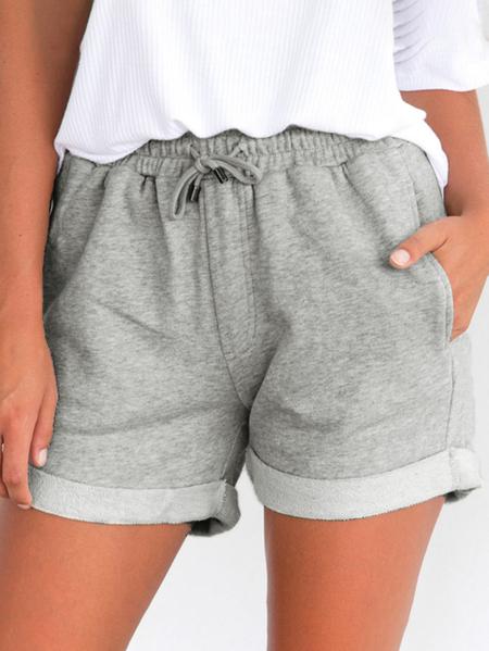 Yoins Side Pockets Drawstring Waist Shorts