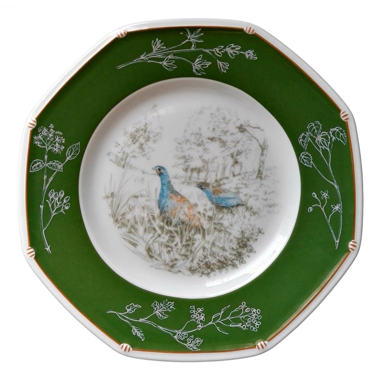 Hermès \N Green Porcelain Dinnerware for Life & Living \N