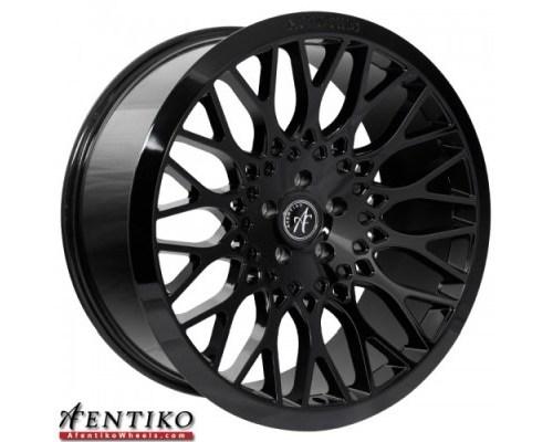 ESM Wheels ESM-AF1GBK22X9-5x120+15 Gloss Black AF1 Cast Wheel 22x9 5x120 +15mm