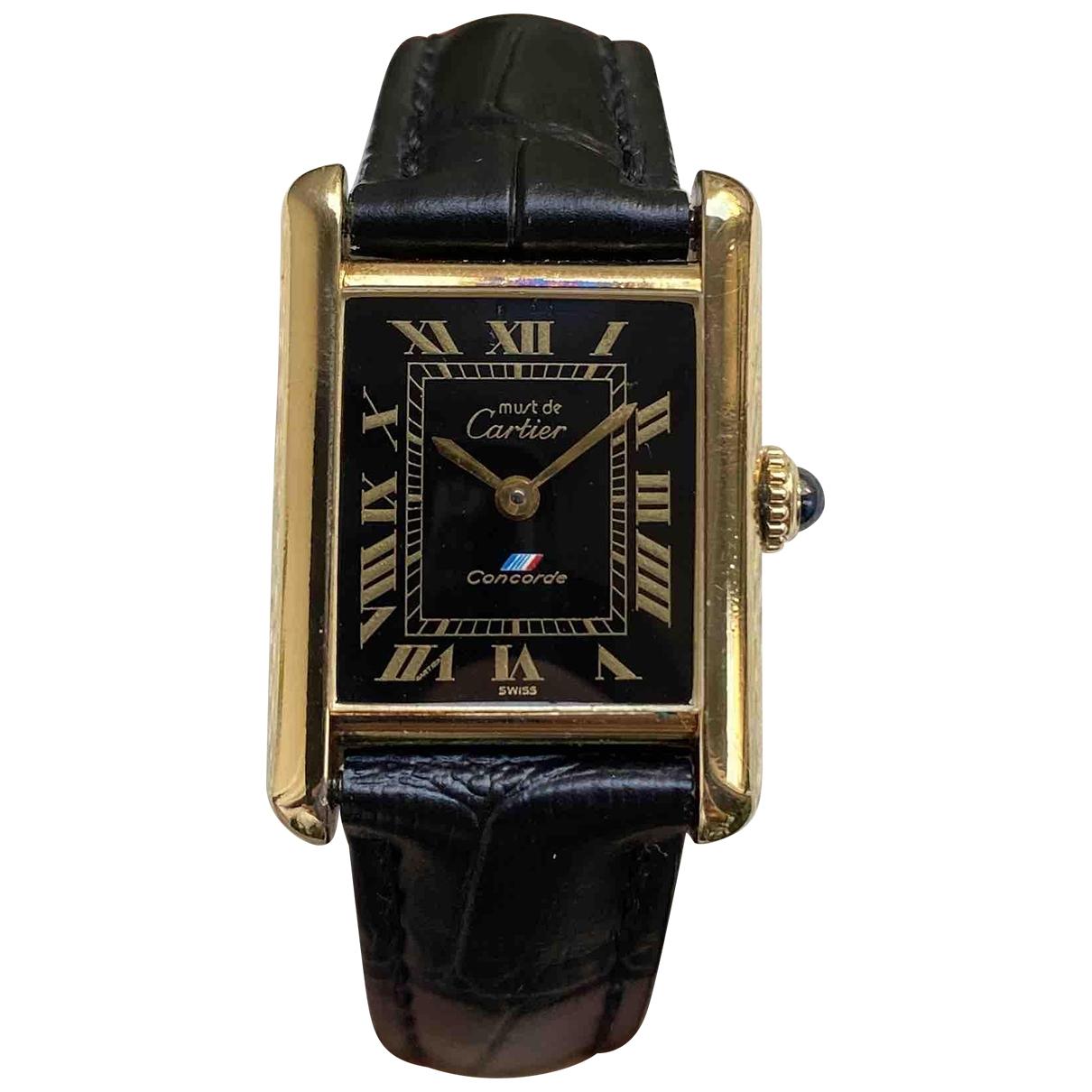Cartier - Montre Tank Louis Cartier pour femme en vermeil - dore