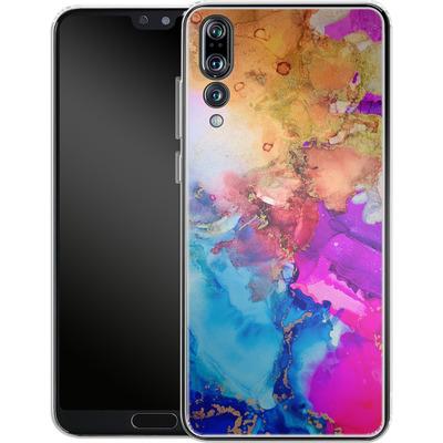 Huawei P20 Pro Silikon Handyhuelle - Cosmic Swirl III von Stella Lightheart