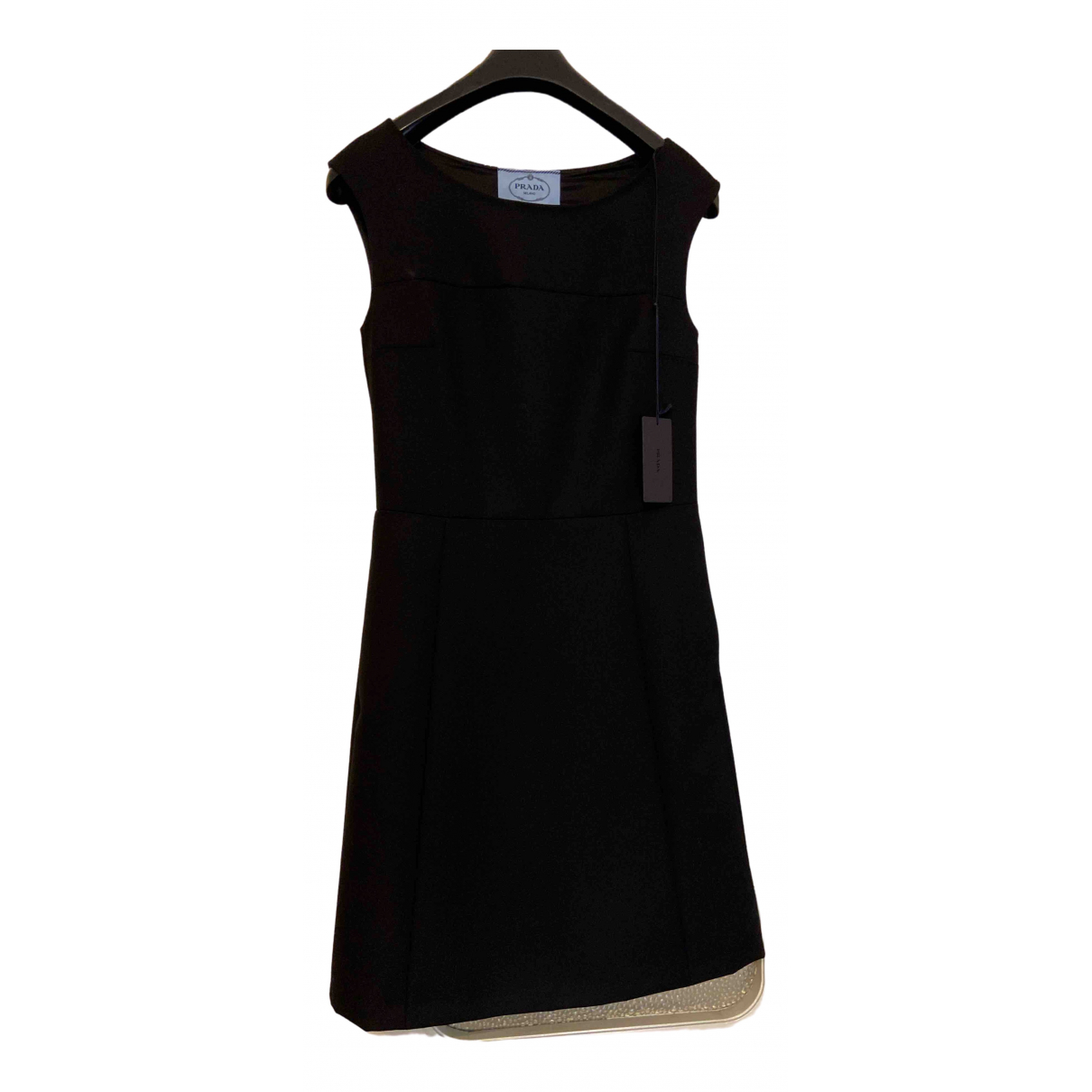 Prada \N Black Wool dress for Women 36 IT