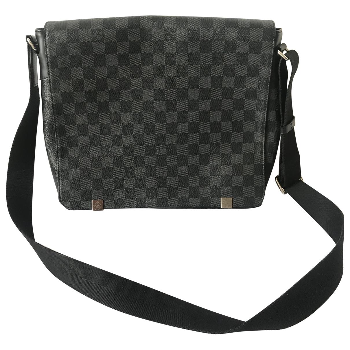 Louis Vuitton District Anthracite Cloth bag for Men \N