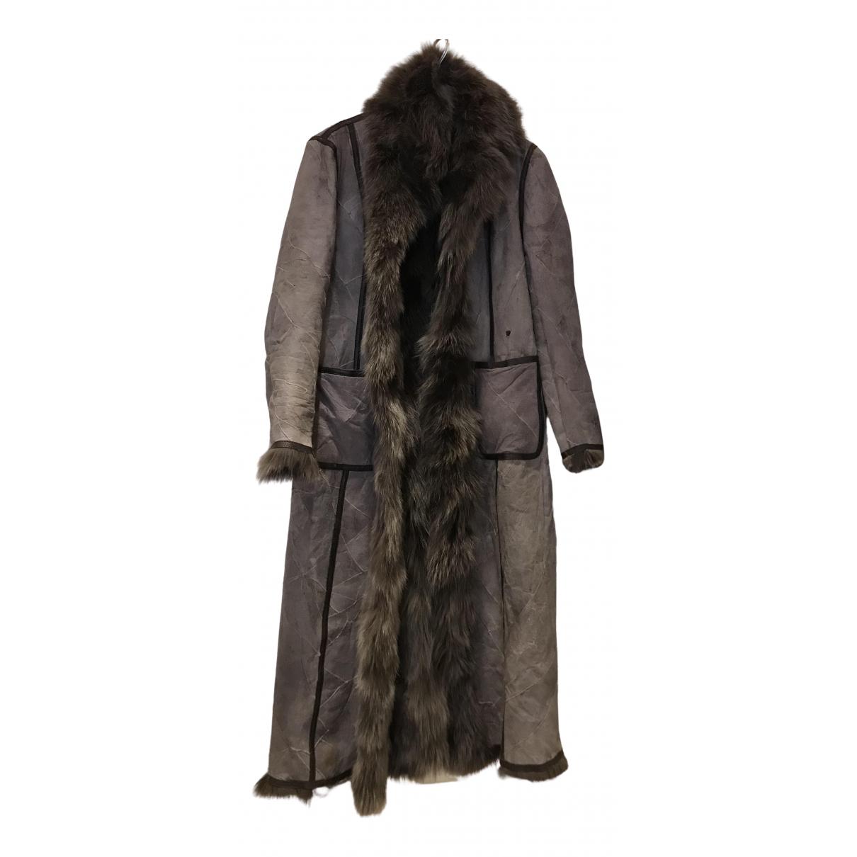 - Manteau   pour femme en renard - beige