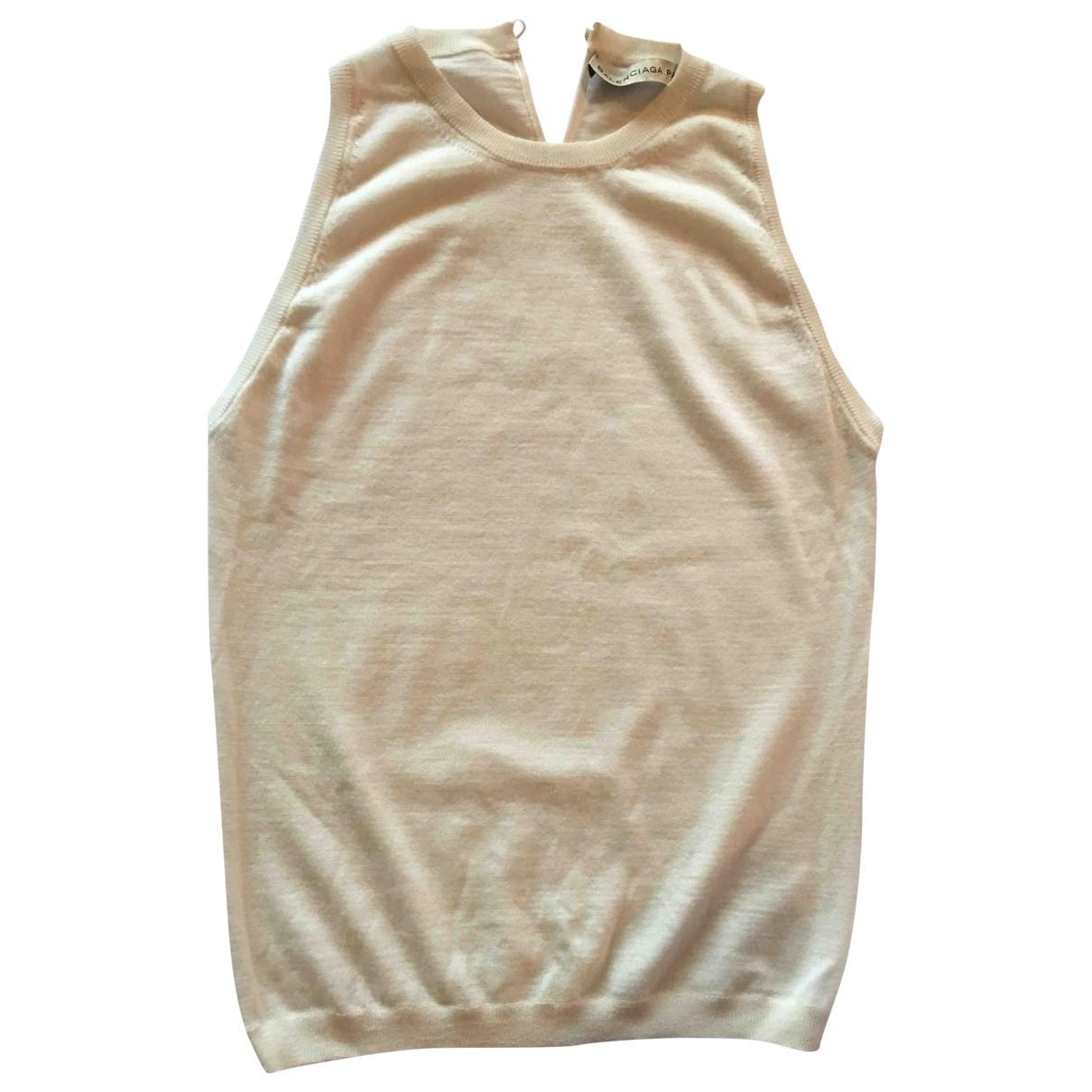 Balenciaga - Top   pour femme en cachemire - ecru