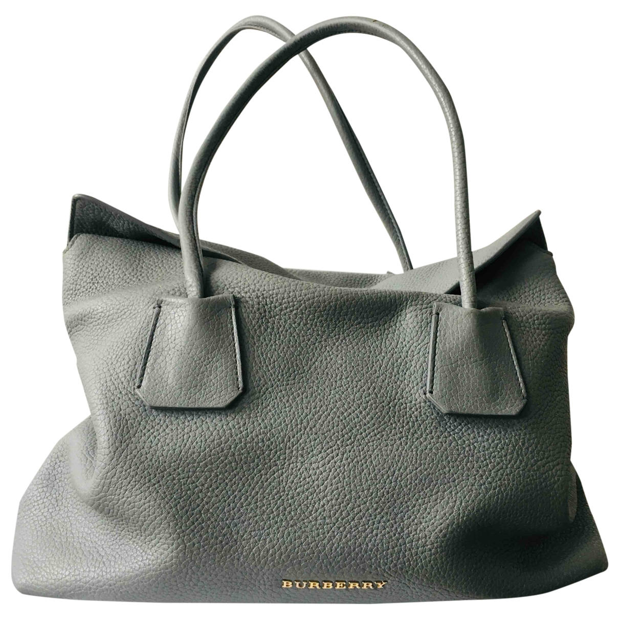 Burberry N Grey Leather handbag for Women N